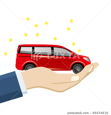 손바닥 손바닥에 탄 미니의 일러스트 미니 밴   자동차 매매 양도 이미지 66834616