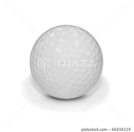 Golf ball isolated on white with clipping path 66836229