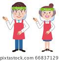 Face shield clerk illustration 66837129