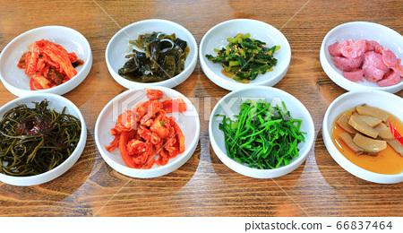 반찬,야채,한상차림,밑반찬, 66837464