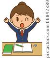 学生学生女孩女孩女孩妇女研究扩展休息 66842389