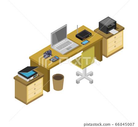 isometric office desk 66845007