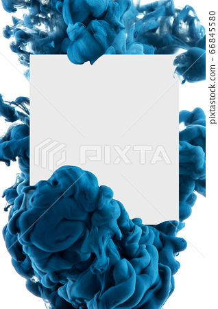 mockup card and color splashes of ink 66845580