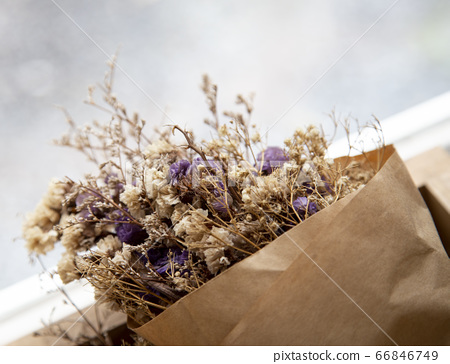 Bouquet of dried flowers 66846749