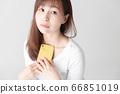 Smartphone, female, white background 66851019