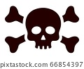 Black pirate skull and crossbones Medicaments Poison vector icon flat isolated 66854397