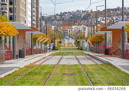 Tram Station Oslo 66856266