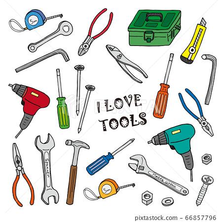 工具插圖集(彩色) 66857796