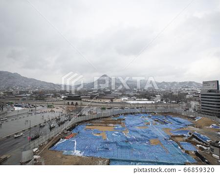 한국 서울시 중구 종로구  덕수궁 경복궁 겨울 66859320