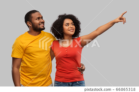 happy african american couple 66865318