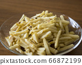 Fried fresh bamboo shoots and mushrooms 66872199