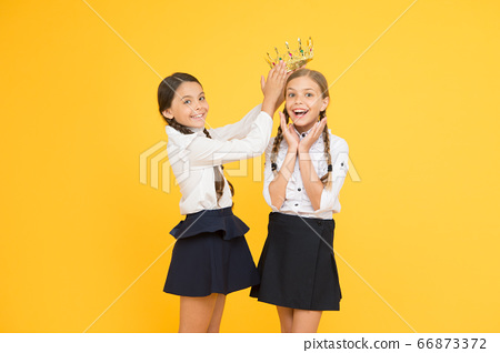 Champion crowned. School competitions concept. 66873372