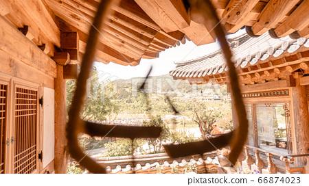 Korean tradition Building 66874023