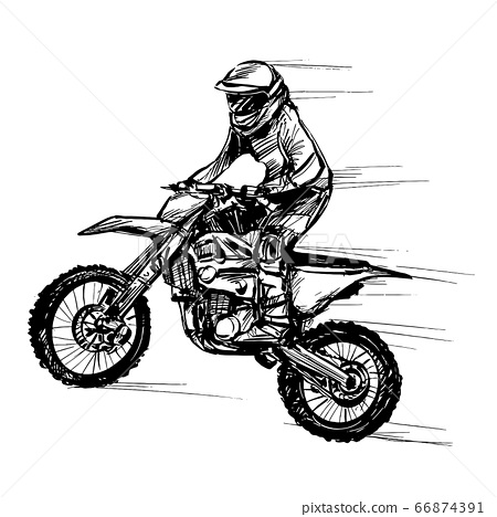 Drawing of the motorcycle competition  66874391