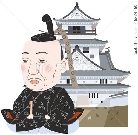 Kochi Castle and Kazutoyo Yamauchi 66874569