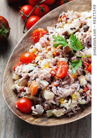 Traditional italian rice salad with tuna and 66875349