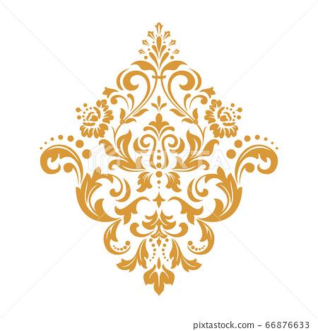 Damask graphic ornament. Floral design element. 66876633