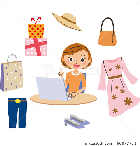 Fashionable information on the Internet on a computer 66877731
