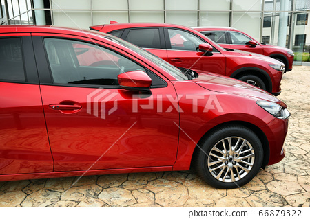 Used car sales domestic car red car red 66879322