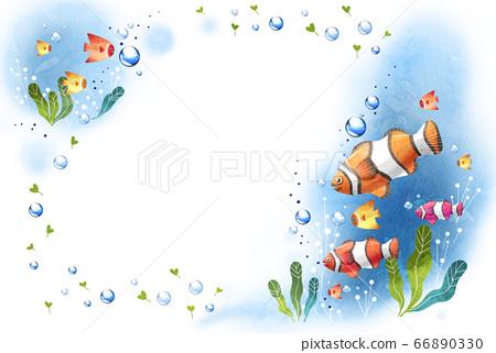 夏天清新的海紋理 66890330
