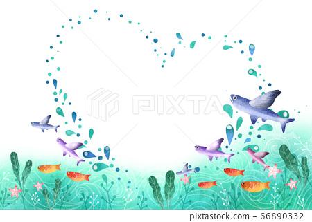 夏天清新的海纹理 66890332