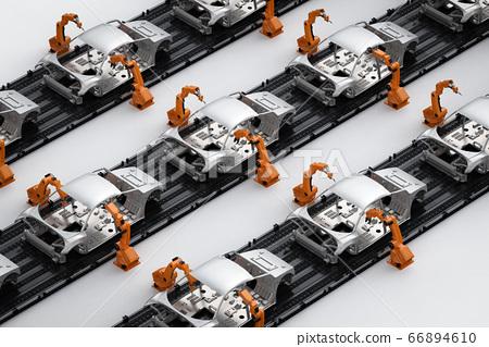 Automation aumobile factory 66894610