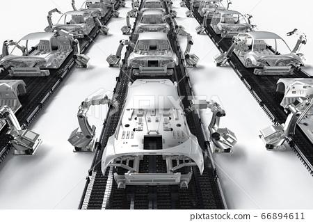 Automation aumobile factory 66894611