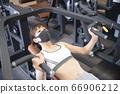 Gym, machine, woman 66906212