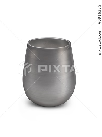 The Digital Painting of stainless steel tumbler cup isolated on white background in Semi-Realism 3D illustration style. 66916355