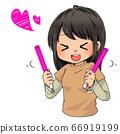 女孩搖擺筆燈 66919199