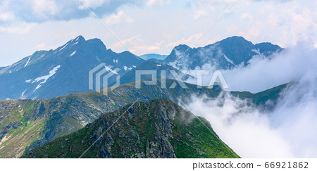 stunning landscape in high mountains. grass and 66921862
