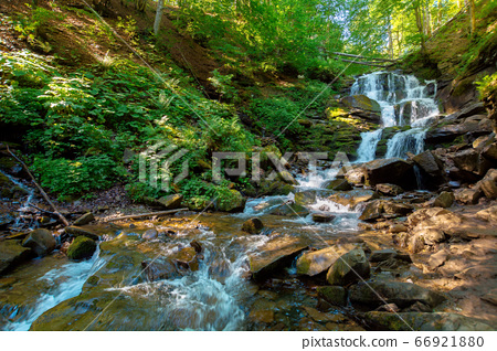 Carpathian waterfall Shypot in the morning. 66921880