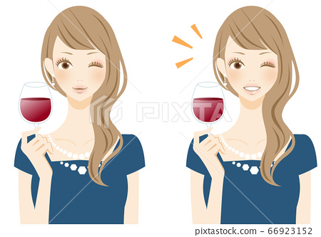 美味的敬酒女人酒杯人圖 66923152