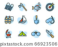Tourism and outdoor activities color icons 66923506