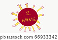 Concept of COVID-19 cornoavirus first and second wave infection 66933342