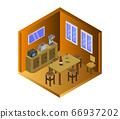 isometric kitchen room 66937202