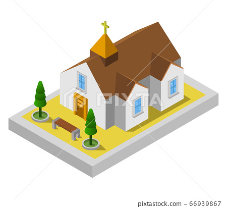 isometric church 66939867