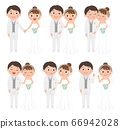 Wedding couple whole body 66942028