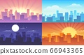 Night and daytime cityscape 66943365