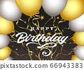Happy birthday dark background 66943383