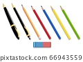 Pens and pencils isolated 3d icons 66943559