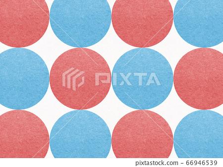 일본식 배경 소재 - 일본식 디자인 - 폴카 - 빨간색과 파란색 원형의 연속 66946539