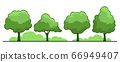 Summer. Trees set 66949407