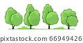 Summer. Trees set 66949426