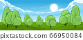 Summer landscape with trees 66950084
