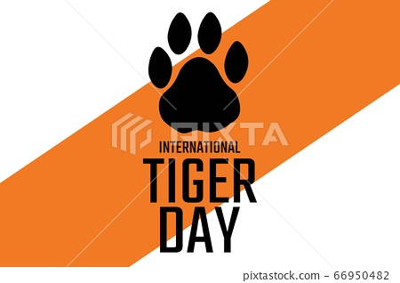 International Tiger Day. July 29. Holiday concept. Template for background, banner, card, poster 66950482