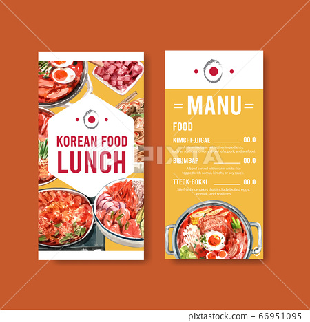 Flyer template with cooking design for brochure 66951095