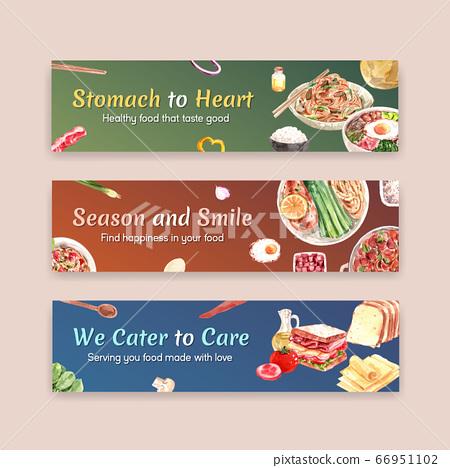 Cooking Banner Template Design For Brochure Web Stock Illustration 66951102 Pixta