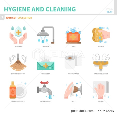 hygiene icon set 66956343