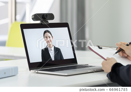 Online interview web job hunting image 66961785